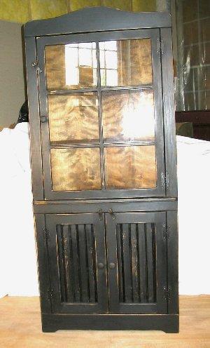 Large Corner Cabinet Wglass Door On Top